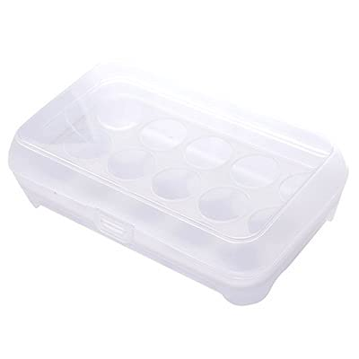 Huevo Hoder Almacenamiento Castray Almacenamiento Refrigerador Crisper Camping Picnic Viajes Portátil Frigorífico Huevos de plástico Caja de Caja Contenedor (Color : White)
