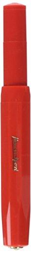 Kaweco Füllfederhalter Classic Sport mit 23 KT vergoldeter Stahlfeder und Iridiumspitze für Tintenpatronen I Kaweco Sport Füller 13,5 cm Rot Federbreite: EF (Extra Fein)