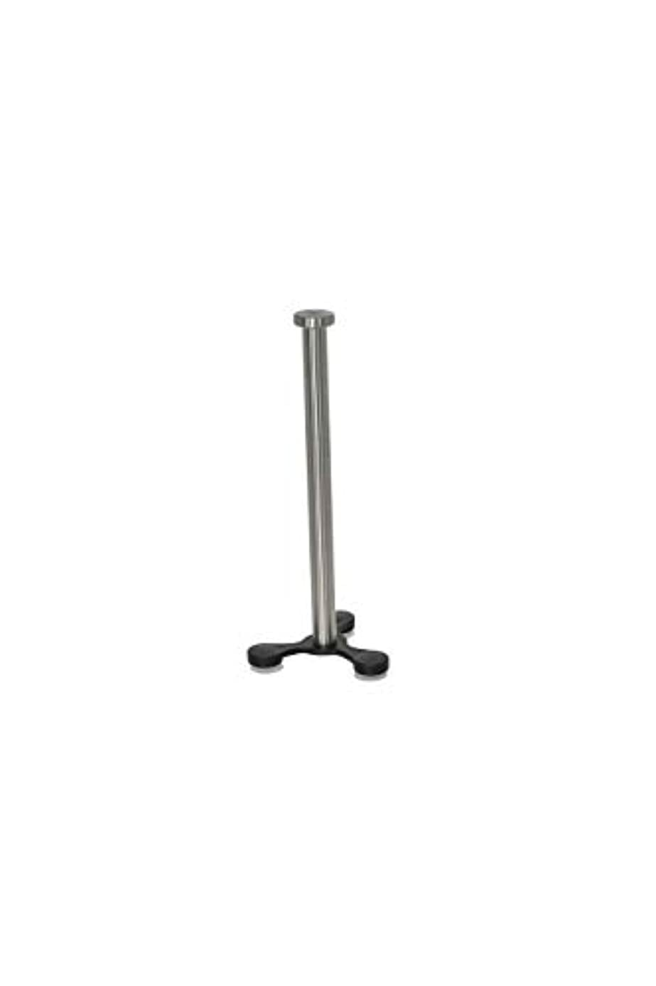 Home-X - Upright Suction Cup Countertop Stainless Steel Paper Towel Holder | Fits All Roll Sizes, Grips Tightly to Smooth Surfaces ymu3171821