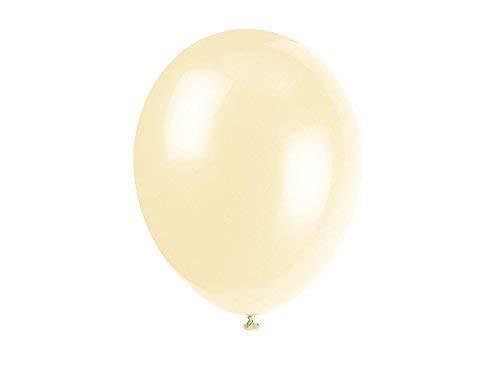 WedDecor Party Apfelgrün Latex Ballons Helium-Grade Luftballon für Jubiläum,Geburtstag,Baby Dusche,Festliche Dekorationen,Kinder Ereignis Stromversorgung, (Packung 100) - Creme, 100pcs