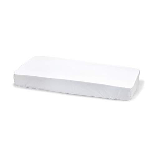 Cambrass Liso E - Sábana ajustable para cuna, 70 x 140 cm, color blanco