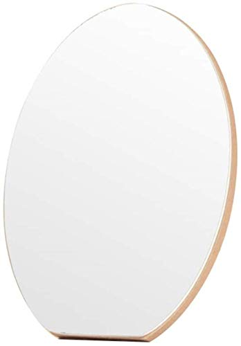 Miroir de maquillage LHY Simple Pliant Ovale Princesse Miroir Miroir Simple Bureau Dressing Miroir Portable La Mode (Size : 21 * 15 cm)