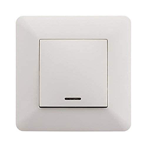 Artezo 135707 Interrupteur poussoir à voyant 10A Blanc