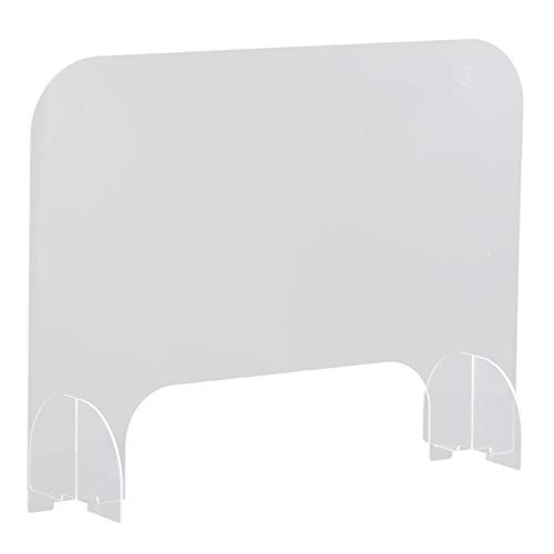 Protective Sneeze Guard 31 X 23.5In, Portable Counter Shield, Clear Acrylic Plexiglass Barrier Protective Coughing Shield for Counters,Nail Salon,Food Screen, Office, Transaction Window, library(DB-1)