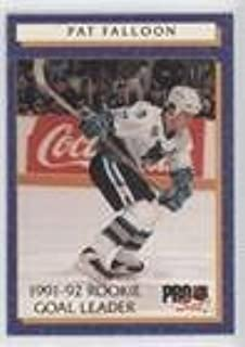 Pat Falloon (Hockey Card) 1992-93 Pro Set - Rookie Goal Leader #4