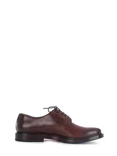Santoni Luxury Fashion Homme MCOR16317JG3IOLCT50 Marron Cuir Chaussures À Lacets | Saison Outlet