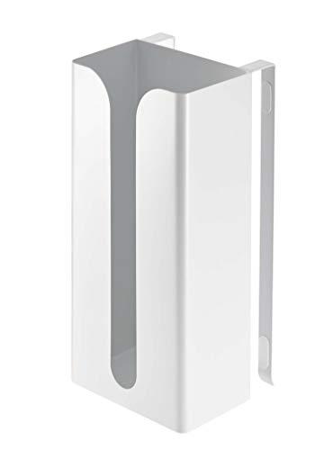 山崎実業 ポリ袋&キッチンペーパーホルダー ホワイト 約W13×D11.5×H26cm プレート 7982