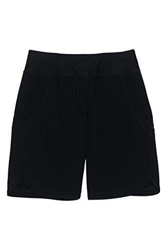 Lands' End Womens Comfort Waist 9in Swim Short Panty New Black Regular 14