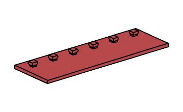 fischertechnik ® - 6 Stück - Platte - Bauplatte - Zubehör - 30 x 90-3
