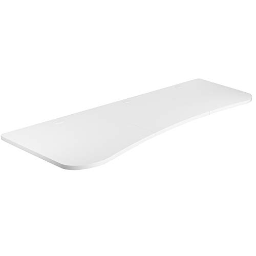 VIVO White 63 x 32 inch Universal Table Top for Standard and Sit to Stand Height Adjustable Home and Office Desk Frames, 3 Section Desktop, DESK-TOP1W