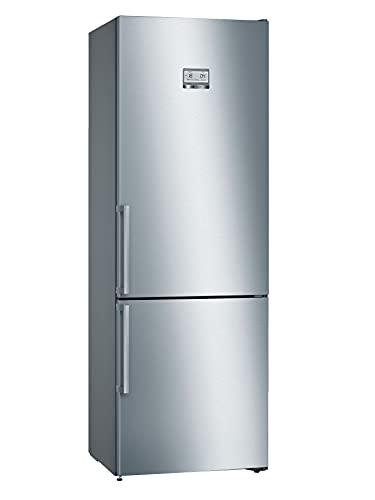 Bosch KGN49AIDP Serie 6 Frigorifero autoportante XXL per Freezer/A+++ / 203 x 70 cm / 202 kWh/Anno/Inox Impronta / 338 l/Liquido VitaFresh Plus/Super Raffreddamento