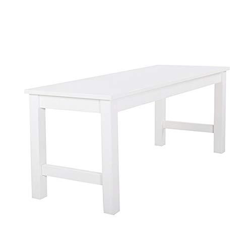 Warmiehomy Dining Table Bench Garden-Kitchen Wooden Dining Room Bench Hallway Doorway Leisure Patio Seat (White Pine)