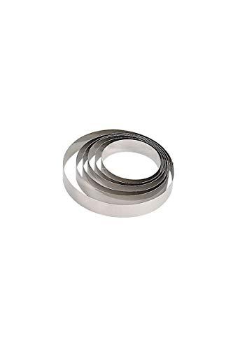 De Buyer - Anello per torte, in acciaio inox, altezza: 4,5cm, Acciaio inossidabile, Silver, 22.2  x  22.2  x  4.1 cm
