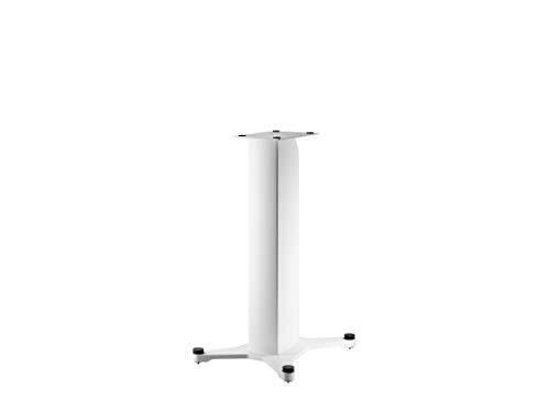 Dynaudio Stand 20 Lautsprecherständer mit integrierter Kabelführung und höhenverstellbaren Spikes, Weiß (Paar)