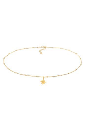Elli Collares Plata Esterlina 925 con Cristales Swarovski® Collar Colgante Estrella Radiante