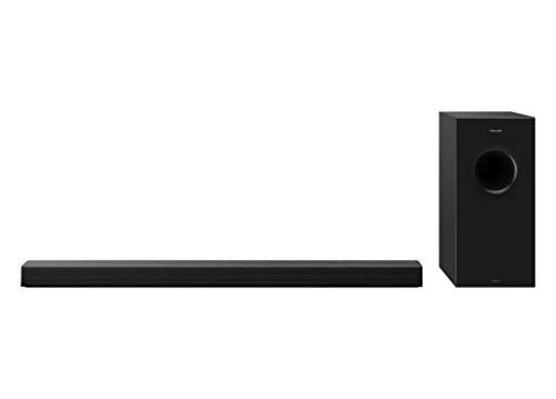 Panasonic SC-HTB600EGK - Barra de sonido 2.1 con subwoofer inalámbrico (360 W , Bluetooth, HDMI, Dolby Atmos, ARC, RMS, Montaje en Pared) Color Negro