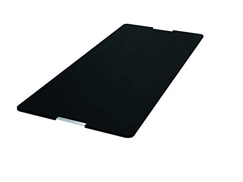 FRANKE 112.0530.071 Planche à découper en Plastique et Acier Inoxydable pour évier, Synthétique, Noir