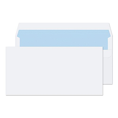 Blake TS-130137 DL Purely Everyday Self Seal Envelope, 100gsm, 110mm x 220mm, White, Pack of 500