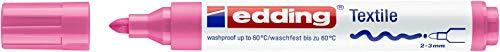 edding Textilmarker edding 4500 creative, Rundspitze, 2-3 mm, rosa