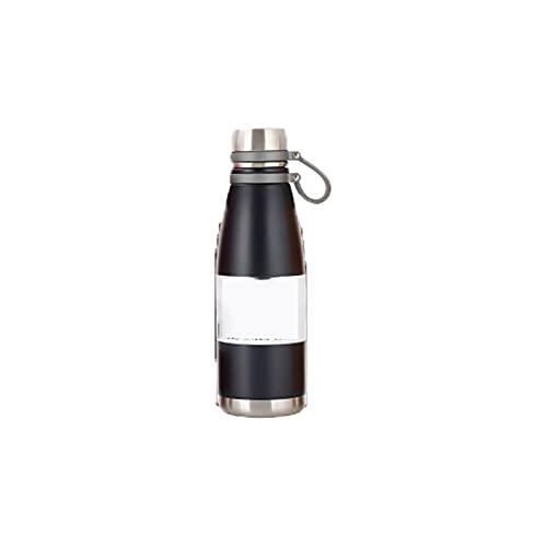 PURPLELU Botella de Agua Deportiva portátil Thermos Thermos con asa, Termo de Gran Capacidad, Adecuado para Deportes/Escalada/Exterior,Negro,850ml