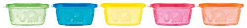 Nûby Wash or Toss -  Boîtes de conservation -  Pots pour encas - 300 ml, 3m+ (Lot de 6)