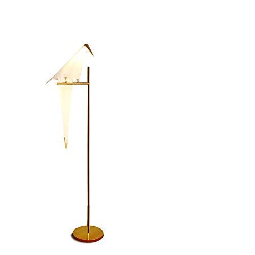 Staande lamp vogel licht woonkamer slaapkamer werkkamer duidend papierkraan vloerlamp