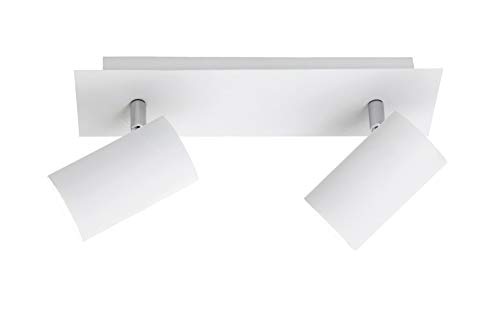 Trio Leuchten Balken in Metall weiß, Spotbalken 2-flammig, exklusiv 2xGU10, Länge: 30 cm 802400201