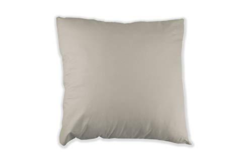 MERINO BETTEN 2er Set Kissenbezug 35 x 35 cm | Kissenhülle für Sofakissen oder Dekokissen | Kissenbezüge mit Reißverschluss (Grau)