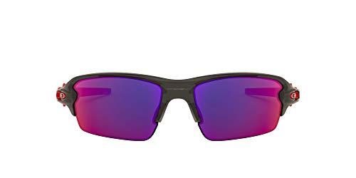 Oakley Flak 2.0 (A) 927103 61 Gafas de Sol, Gris (Matte Grey Smoke/Positivered), Hombre