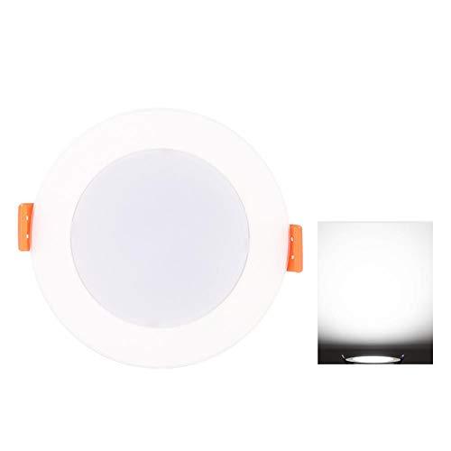 Meiyya Light Control 6000K Plástico AC90-265V Luz de Techo LED Downlight, para pasillos Sótanos Baños Armarios Garajes(6 Pieces, 5W)