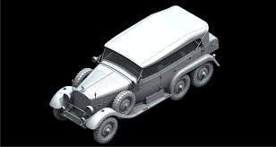 ICM 1/24 Scale Typ G4 Soft Top, WWII German Personnel Car - Plastic Model Building Kit # 24012