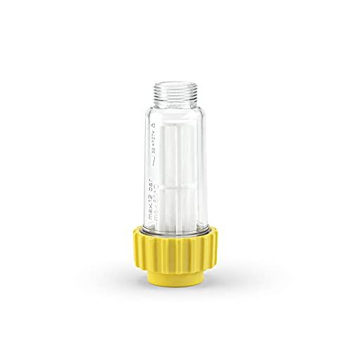 """IDROBASE Filtro de Agua Universal - Amarillo, Ideal para limpiadores de Alta presión de Kärcher y Otros. Filtro de Entrada de Agua G3/4""""F para hidrolimpiadora, Grifo de jardín y Lavadora"""