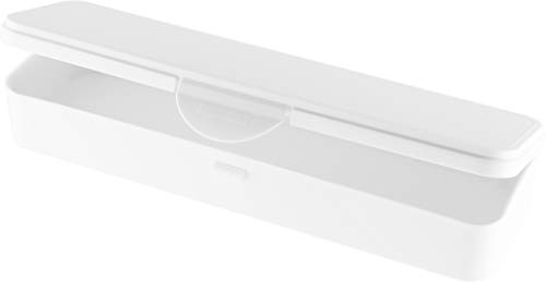 Hygiene-Box Kundenbox Feilenbox Arbeitsmaterial-Box weiss 220x65x35 mm LxBxH