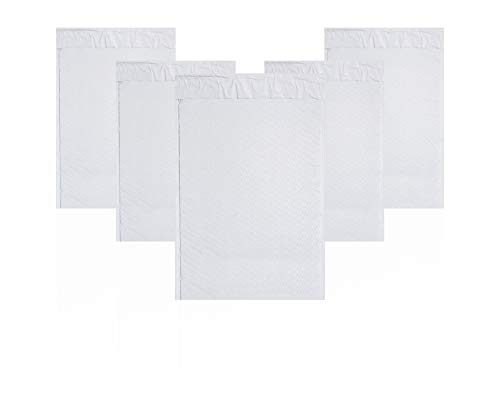White Poly Bubble Mailers 8.5 x 13.5 Padded Envelopes 8 1/2 x 13 1/2. Pack of 20 Poly Cushion Envelopes. Peel and Seal. Mailing, Shipping, Packing, Packaging Supplies. Poly Bags with Cushioning.