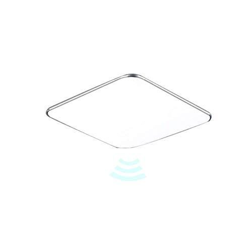 UISEBRT 24W LED Deckenleuchte Warmweiß Radar Sensor mit Bewegungsmelder - Moderne Ultraslim Deckenlampe LED Panel Küche Wohnzimmer Schlafzimmer Wandlampe (24W Warmweiß)