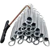 Viyee Oline 5.5 Inch Trampoline Springs with T-Hook Heavy Duty Stainless Steel ReplacementSprings,Set of 12