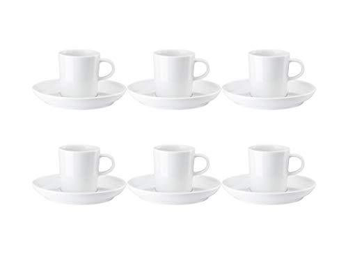Arzberg Cucina - Juego de café (12 piezas), color blanco y blanco