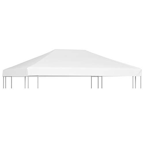 Tidyard Toldo de Repuesto Toldo de Cenador Techo de Repuesto para Cenador 270 g/m² 4x3 m Blanco