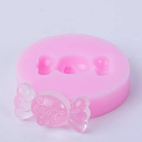 SUNSK Molde de Silicona para Dulces Cupcake Topper Sugarcraft Candy Fondant Resina Joyas Cabujón Moldes para Colgantes