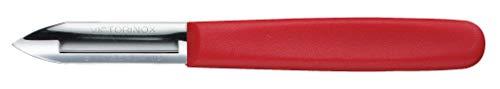 Victorinox Sparschäler, Zweischneidig, Edelstahl, Spülmaschinengeeignet, rot
