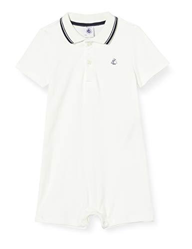 Petit Bateau Jungen 5363901 Jumpsuit, Weiß (Marshmallow Zwm), 3-6 (Herstellergröße: 6 Monate)