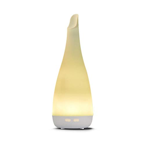 LuxTai Etherische olie Diffuser 80ml Wood Grain Ultrasonic Aromatherapie Oil Diffuser met verstelbare Mist Mode waterloze automatische uitschakeling luchtbevochtiger en 7 kleur veranderende led verlic