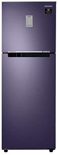 Samsung 253L 2 Star Inverter Frost Free Double Door Refrigerator (RT28T3782UT/HL, Pebble Blue,...