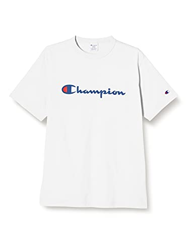 [チャンピオン] Tシャツ 半袖 綿100% 定番 スクリプトロゴプリント ショートスリーブTシャツ C3-P302 メンズ ホワイト L