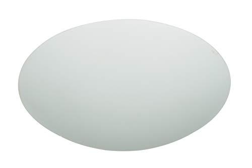 Westinghouse Lighting Westinghouse Lampenschirm 21,7 cm aus satiniertem Glas, Pilzform, weiß, 21.7 x 21.7 x 4.7 cm, 8704440,