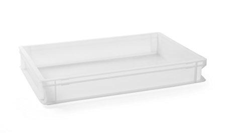 HENDI Pizzaballenbox, Teigballenbox, Teigballenbehälter, Pizzateigbehälter, Teigbox, für Pizzateig, Geschirrspülmaschinengeeignet, 600x400x(H)75mm, Polyethylen, 880906, Grün, 14 liter