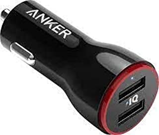 Anker PowerDrive 2 Auto zwart - oplader voor mobiele telefoon (auto, sigarettenaansteker, 5 V, 4,8 A, zwart)