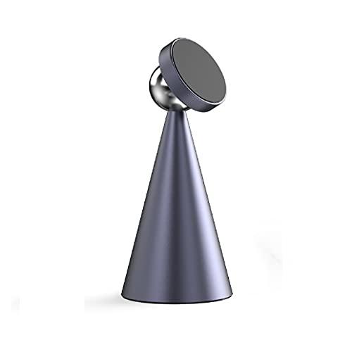 Soporte para Teléfono Móvil De Escritorio Metal Completo Creativo Portátil 360 Grados Giratorio Fuerte Carga Universal Magnética Base De Aleación De Aluminio Fija para Ver
