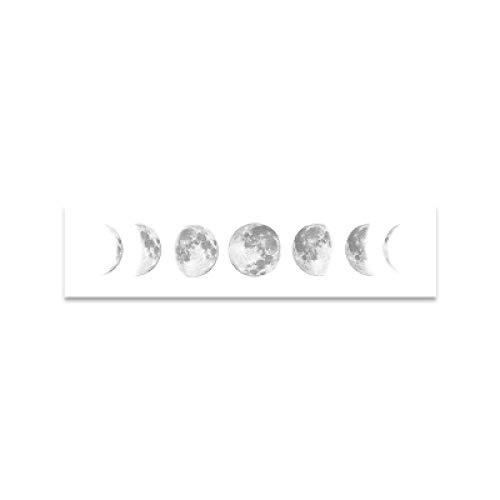 OKYQZ Eclipse nórdico de la Luna Póster de Lienzo Impresión Minimalista Universo Arte de la Pared Imágenes Banner Arte para la decoración de la Sala de Estar 12'x35 (30x90cm) Sin Marco
