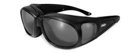 Global Vision Outfitter Motorcycle Glasses, Anti Fog, Smoke Lens, Matte Black Frame